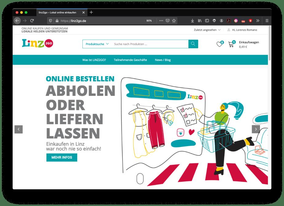 Aufgrund des bevorstehenden Teil-Lockdowns wird der Linzer Online-Marktplatz LINZ2GO dringender denn je benötigt.